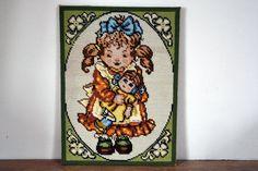 canevas rétro chambre d'enfant décoration par LegrenierdAlphonse