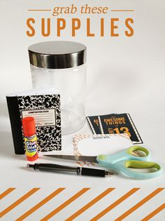 Fun idea for making 2013 journal jars