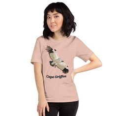 My Cape Griffon drawing on a t-shirt for bird lovers. Great T Shirts, T Shirts For Women, Fabric Weights, Cape, Lovers, Birds, Unisex, Drawing, Cotton
