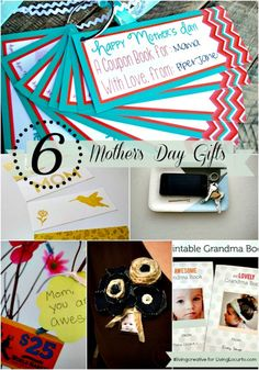 6 Mothers Day Projects with Free Printables for #livingcreative Thursday and LivingLocurto.com