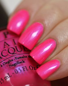 Opi neon 2014 hotter than you pink