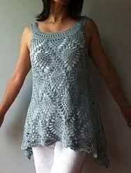 Afbeeldingsresultaat voor crochet summer tops patterns free