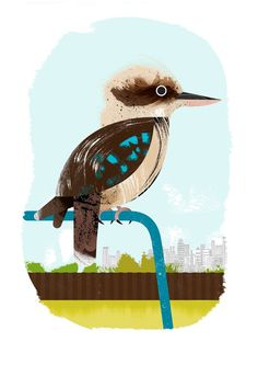Birds in Parks - Marc Martin Illustration & Design Marc Martin, Jacky Winter, Homemade Art, Naive Art, Bird Art, Natural History, Fiber Art, Folk Art, Abstract Art