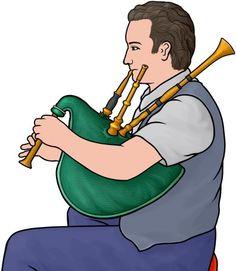 French bagpipes / biniou player
