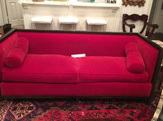 notre canapé rouge