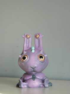 Alien Little Space Bunny anime manga sci fi sculpture