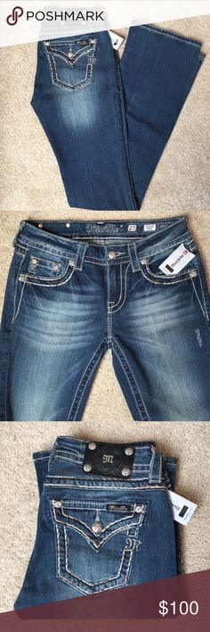 """NWT Miss Me medium wash boot cut jeans New with tags, Miss Me jeans. Inseam 33"""". Fabulous pair of jeans. Medium wash. You'll sure to receive a lot of compliments when wearing, I do, when I wear mine! Very soft and easily to move with you throughout the day. Miss Me Jeans Boot Cut"""
