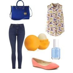 night with freinds by a19hawthorne on Polyvore featuring polyvore fashion style Topshop Michael Kors Eos Essie