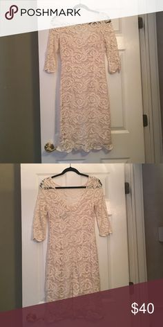 Lace dress Ivory lace dress! Great for bridal shower, rehearsal dinner, or daytime event! JS Collections Dresses Long Sleeve