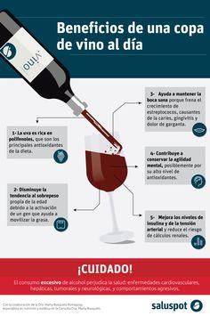 La Dra. Marta Busquets Romagosa indica en esta infografía los beneficios de una copa de vino al día.