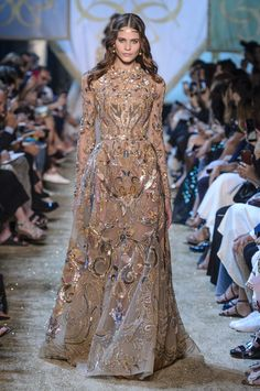 0cb5f1023780 Elie Saab autumn winter 2017 couture show   Glamorous Dresses, Runway  Fashion,