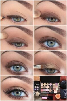 Brown eye make up. Jane Dawn, Gold bare