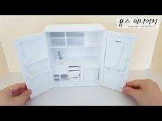 MINIATURE DIY - 4 door stainless steel refrigerator(Dollhouse Refrigerator) 4문형 스틸 냉장고 만들기 - YouTube