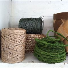 garden twine collection. that fuzzy mosslike one is the jam.