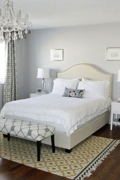 Gray and Yellow Bedroom, Contemporary, bedroom, ICI Dulux Silver Cloud, AM Dolce Vita