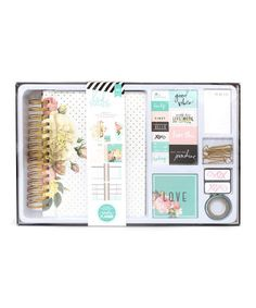 Another great find on #zulily! Gold-Foil Memory Planner Box Set #zulilyfinds