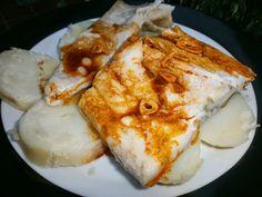 Luzmary y sus recetas caseras: BACALAO AL AJILLO Y PIMENTÓN