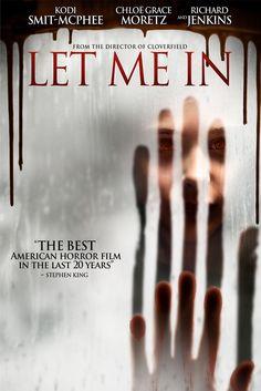 Let Me In Movie Poster - Kodi Smit-McPhee, Chloe Moretz, Richard Jenkins  #LetMeIn, #MoviePoster, #Horror, #MattReeves, #ChloeMoretz, #KodiSmit, #McPhee, #RichardJenkins
