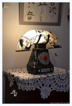 ampa Telefon | MW Ceramics #ceramic #ceramics #ceramika #clay #grafika #lamps #lampa #polandhandmade #MWCeramics