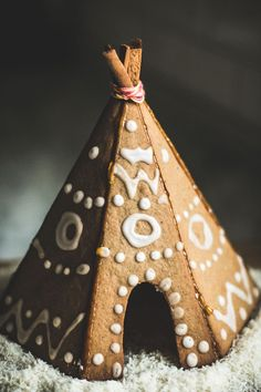 Casa de galleta Cabaña tipy  gingerbread teepee - I love you.