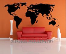 1 PCS 200x90cm Best Selling Big Global World Map Vinyl Wall Sticker Home decor wallpaper Creative Wall Decals CCR1103(China (Mainland))