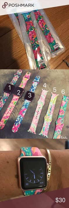🎀NEW🎀Lilly Apple Watch Band 🎀NEW🎀LILLY WATCH BAND 42MM. This is for 1 Lilly Inspired Boutique Lilly Silicone Watch Band in Flamingo Print. ❌No trading or holding. Accessories Watches