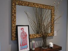 Wood appliques cheap rustic country home decor full image for diy Mirror Photo Frames, Wood Mirror, Diy Mirror, Lighted Mirror, Mirror Ideas, Mirror Mirror, Auction Projects, Diy Art Projects, Wood Projects