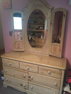 Childrens Bedroom Furniture, Bedroom Furniture Sets, Pine Dresser, Vanity, Farmhouse, Coffee, Places, Table, Home Decor