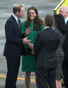 -- April 2014--Prince William and Kate Middleton Share the Look of Love After Landing
