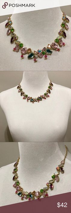 """FINAL SALE‼️Betsey Johnson Crystal Necklace Material: Gold Tone mixed metal  Approximate length : 16"""" + 3"""" extender  Approximate drop: 3/4"""" Brand new with tags -Authentic  Retails for $68+ TAX  ❌NO TRADING  🥇POSH AMBASSADOR  📦FAST SHIPPER 🔝 RATED SELLER  🔝10% SELLER🏆 💌TAKE A LOOK AT MY FEEDBACK Betsey Johnson Jewelry Necklaces"""