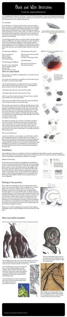 Black and White illustration Tutorial by =Snowy-Ninja