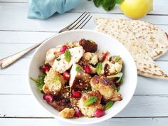 Hot Cauliflower & Chicken Salad - Seven Healthy Fall Recipes