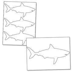 Printable Shark Outline - Printable Treats