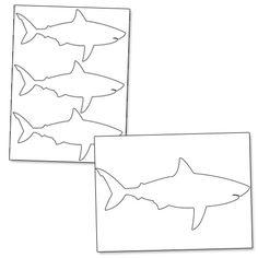 Printable shark fin photo booth prop. Create DIY props