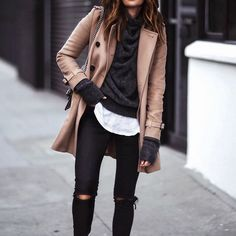 Fall layers  || outfit details on FashionedChic.com/DailyDetails http://liketk.it/2pr1B