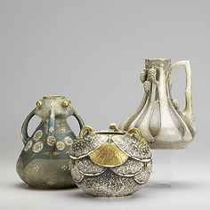 PAUL DACHSEL, three pieces of Amphora, early 20th c