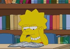 Lisa Simpson llegint a la biblio. Simpsons Meme, The Simpsons, Simpson Wallpaper Iphone, Cartoon Wallpaper, Cartoon Icons, Cartoon Memes, Cartoons, Simpson Tumblr, Neuer Job