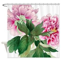 Japan Peony Shower Curtain on CafePress.com