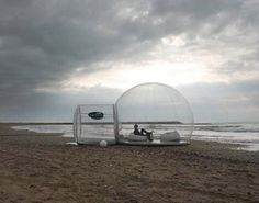 inflatable tent! NOW that's how I like to go to the beach. X