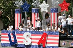 Best Camping Party Decorations Of July Ideas 4th Of July Parade, Fourth Of July, 4th Of July Wreath, Homecoming Floats, Homecoming Parade, Camping Party Decorations, 4th Of July Decorations, Boat Parade, Parade Floats