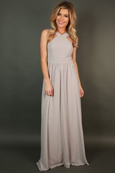 Dreaming Of Love Maxi Dress in Grey