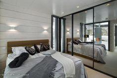Peiliovet Log Homes, Home Interior Design, Custom Homes, Divider, Bedroom, House, Finland, Inspiration, Furniture