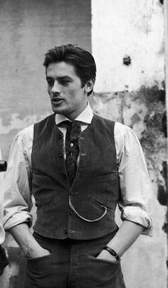 ''I've never been beautiful, I just looked good.'' - Alain Delon