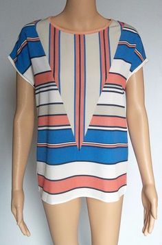 Zara Collection Women's Size Small Striped Sleeveless Blouse Top 100% Polyester  #ZaraCollection #Blouse #Casual