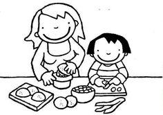 Kleurplaat: Anna maakt fruit