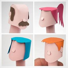 A selection of paper haircuts. #papertoy #prototype #maker