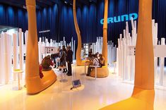 "D'art Design creates an ""Emotional Landscape"" for Grundig at the IFA 2008 on 2,200 sqm"