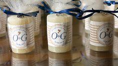 Lembrancinha fácil de fazer: Velas aromatizadas com rótulo personalizado- Decoração batizado