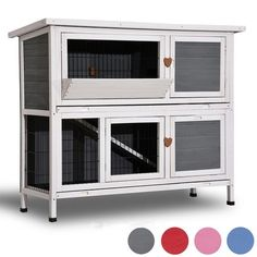 Shop for Lovupet 2 Story Outdoor Wooden Rabbit Hutch Chicken Coop Bunny Cage Guinea Pig House with Ladder for Small Animals. Get free delivery On EVERYTHING* Overstock - Your Online Chicken Supplies Store! Guinea Pig House, Guinea Pigs, Outdoor Rabbit Hutch, Bunny Cages, Wooden Rabbit, Rabbit Hutches, Animal Habitats, Pet Cage, Roof Design