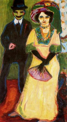 Ernst Ludwig Kirchner (German, 1880-1938) : Dodo and her brother, c. 1908. Smith College Museum of Art, Northampton, Massachusetts.
